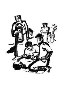 """Иллюстрации к ретро-детективу А.Чижа """"Враг народа"""""""